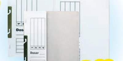 Dosar carton alb