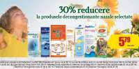 30% reducere la produsele decongestionante nazale