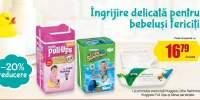 20% reducere la produsele pentru ingrijire bebelusi Huggies