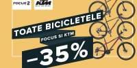 Toate bicicletele Focus si KTM pana al 30% reducere