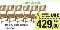 Set 6 scaune pliabile