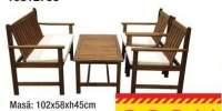 Set mobilier cafea Acacia + perne