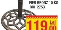 Baza umbrela fier Bronz 10 kilograme