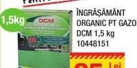 Ingrasamant organic pentru gazon DCM 1,5 kilograme