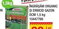 Ingrasamant organic si erbicid gazon DCM 1.5 kilograme