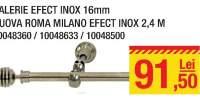 Galerie Nuova Roma Milano efect Inox 2.4 m
