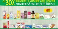 30% reducere la vitamine si minerale pentru adulti si copii