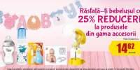 25% reducere la produsele din gama accesorii pentru bebelusi