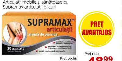 Supramax plicuri pentru articulatii