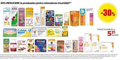 Produse pentru stimularea imunitatii: 30% reducere