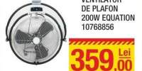 Ventilator de plafon 200W Equation