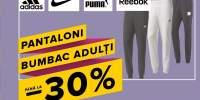 Pantaloni bumbac sport barbati pana la 30% reducere