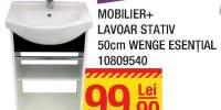 Mobilier + lavoar stativ 50 centimetri Wenge Esential