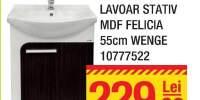 Mobilier + lavoar stativ MDF Felicia 55 centimetri Wenge