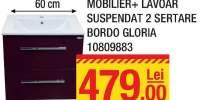 Mobilier + lavoar suspendat 2 sertare bordo Gloria