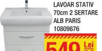 Mobilier + lavoar stativ 70 centimetri 2 sertare alb Paris