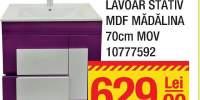 Mobilier + lavoar stativ MDF Madalina 70 centimetri mov