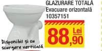 Vas wc glazurare totala evacuare orizontala