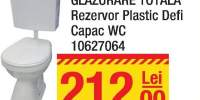 Vas wc glazurare totala + rezervor plastic Defi + capac wc