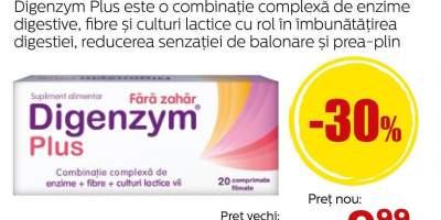 Digenzym Plus 20 comprimate - enzime digestive