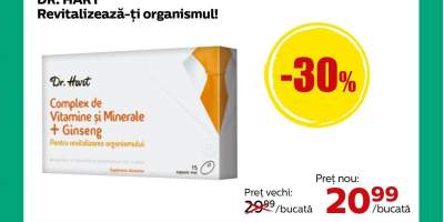 Complex de vitamine si minerale + ginseng Dr. Hart