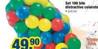 Set 100 bile distractive colorate