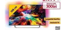Televizor LED 4K Philips UHD SMART 43PUS730312