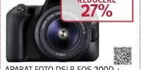 Aparat foto Canon DSLR EOS 200D + OBIECTIV 18-55DC
