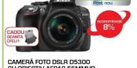 Camera foto Nikon DSLR D5300 cu obiectiv AFP18-55MMVR