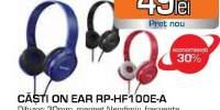 Casti PANASONIC RP-HF100ME-A, microfon, on ear, cu fir, albastru