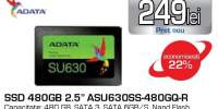 "Solid-State Drive ADATA SU630, 480GB, 2.5"" SATA3, ASU630SS-480GQ-R"