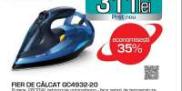 Fier de calcat PHILIPS Azur Advanced GC4932/20 talpa SteamGlide Plus, albastru