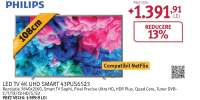 Televizor LED Smart Ultra HD, Saphi TV, 108cm, PHILIPS 43PUS6523/12