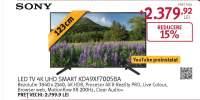 Televizor LED Smart Ultra HD, 4K HDR, 123 cm, Sony BRAVIA KD-49XF7005B, Negru