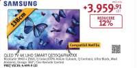 Televizor QLED Smart Ultra HD, Tizen, 4K HDR, 139cm, SAMSUNG QE55Q6FNATXXH