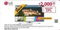 Televizor TV LED 4K UHD SMART LG 43UK6950PLB