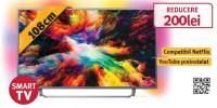 Televizor LED Smart Ultra HD 4K, HDR, Ambilight, 108 cm, PHILIPS 43PUS7303/12