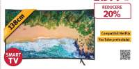 Televizor Curbat LED Smart Ultra HD 4K, HDR, 138 cm, SAMSUNG 55NU7372