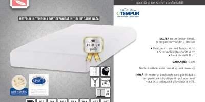 Saltea de pat Sensation Prima 19 Cooltouch cu spuma Tempur