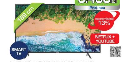 Televizor LED Smart Ultra HD 4K, HDR, 189 cm, SAMSUNG 75NU7172