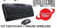 Kit tastatura si mouse Wireless LOGITECH MK330, USB, Layout UK, negru