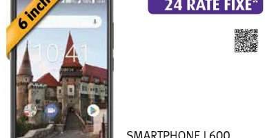 Telefon MYRIA MY9078 L600, 16GB, 2GB RAM, Dual SIM, Black