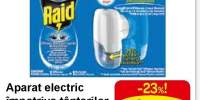 Aparat electric impotriva tantarilor cu rezerva lichida inclusa Raid