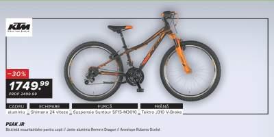 "Bicicleta KTM Peak Jr  24"" pentru copii"