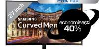 "Monitor curbat LED SAMSUNG C24F390FHU, 24"", Full HD, 60Hz, negru"