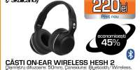 Casti SKULLCANDY Hesh2 S6HBGY-374, Bluetooth, Over-Ear, Microfon, negru
