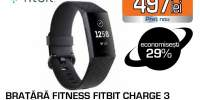Bratara fitness FITBIT Charge 3 FB409GMBK-EU, Android/iOS, Black