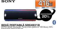 Boxa portabila SONY SRSXB10B, Bluetooth, Wireless, NFC, Extra Bass, Waterproof, Negru