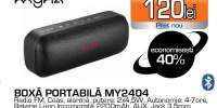 Boxa portabila MYRIA MY2404, Bluetooth, MicroSD, negru