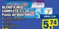 Blend A Med Completa 7/3D pasta de dinti